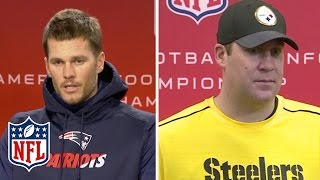 Download Tom Brady & Big Ben Compliment Each Other | NFL Press Conference Video