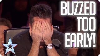 Download UH OH! When the Judges buzz TOO EARLY! | Britain's Got Talent Video