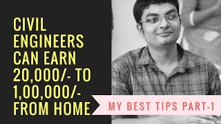Download Civil Engineers can Earn Rs. 20000 to 100000 from Home Part 1 Video