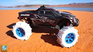 Download RC Car Tires Drive On Water Adventure!! Video