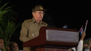 Download Raul Castro vows to defend Fidel's revolution Video