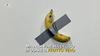 Download Una banana appesa con lo scotch: la nuova opera di Maurizio Cattelan vale 120mila dollari Video