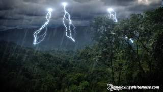 Download Rain Forest Thunder & Rain Sleep Sounds | White Noise 10 Hours Video