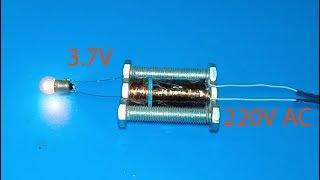 Download DIY making 220V to 3.7V Transformer using screws , amazing idea Video