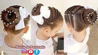 Download Penteado Infantil coque com coração de ligas Video
