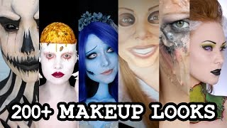 Download 1 GIRL 200 HALLOWEEN MAKEUP LOOKS Video