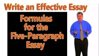 Download How to Write an Effective 5-Paragraph Essay: Formulas for 5-Paragraph Essay Video