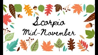 """Download SCORPIO """"You find out secrets & have to adjust your plans"""" MID NOVEMBER Tarot Reading Video"""