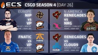 Download ECS CS:GO S4 DAY 26: NiP vs VP // Fnatic vs VP // Renegades vs NRG // Cloud9 vs Ghost Video