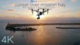 Download DJI INSPIRE2 X5S: Sunset Over Mission Bay, San Diego [4K UHD 30fps Low-Light 4K Footage] Video