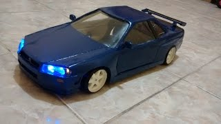 Download Paper craft nissan Skyline GTR 34 1/10 rc drift Video