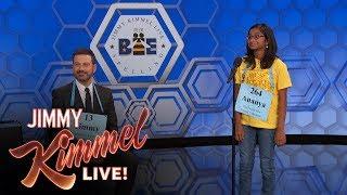 Download Jimmy Kimmel vs. 12-Year-Old Spelling Bee Winner Video