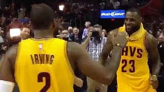 Download LeBron James Caught Making Fun of Kyrie Irving's Injuries Video