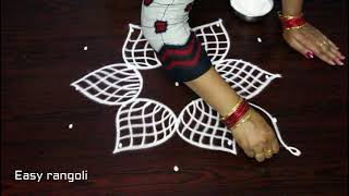 Download beautiful friday kolam designs with 5x3 dots for beginners || easy rangoli || simple muggulu Video