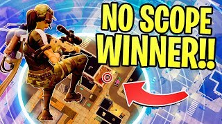 Download INSANE MAX HEIGHT *NO SCOPE WIN* IN FORTNITE BATTLE ROYALE!!! Video