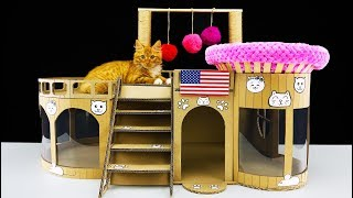 Download How to Make Amazing Kitten Cat House from Cardboard at Home Video