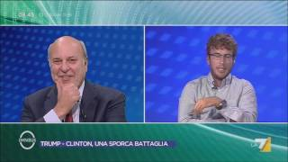 Download DIEGO FUSARO: Peggio di Trump solo la Clinton [Omnibus, La7, 10.9.2016] Video