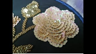 Download embroidery beautiful rose beads Video