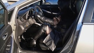 Download My Walk And Pedal Pumping In Leather Outfit And Otk Platform Boots With High Heels