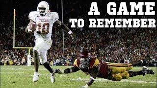 Download A Game to Remember: USC vs Texas | 2006 National Championship Video
