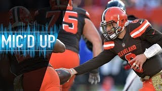 """Download Baker Mayfield Mic'd Up vs. Falcons ″Did you see my handoff though?"""" 