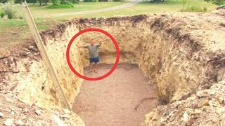 Download Guy Digs A Hole In His Backyard And Makes His Neighbors Insanely Jealous Video