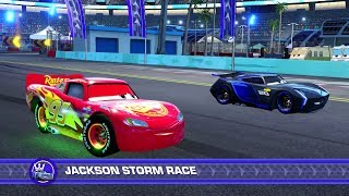 Download Cars 3: Driven to Win (PS4) Gameplay - Lightning McQueen vs. Jackson Storm (Hard Mode) Video