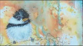 Download How to paint acrylic birds : mixed media art journal page Video