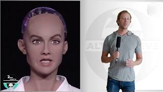 Download The Dangers of Artificial Intelligence - Robot Sophia makes fun of Elon Musk - A.I. 2018 Video