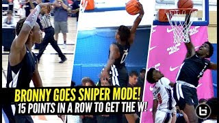 Download Bronny James Turns Into a SNIPER & SCORES 15 IN a ROW In HUGE CLUTCH Playoff Win!! Video