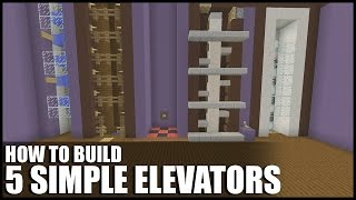Download 5 Easy Ways To Build Elevators In Minecraft Video