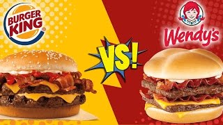 Download Burger King Bacon King vs Wendy's Baconator Video