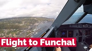 Download Flight to Funchal Airport in the cockpit of a Condor Airbus A321 Video