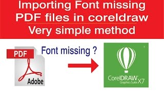 Download Importing Font missing PDF files in coreldraw -very simple method Video