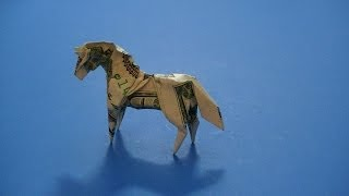 Download Origami Dollar Bill Horse Video