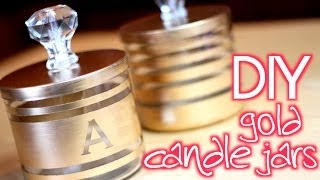 Download DIY Easy Gold Candle Jar Organizers Video