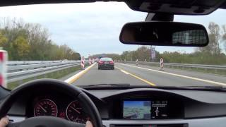 Download Chasing A5 Sportback with BMW 330d LCI on German Autobahn Video