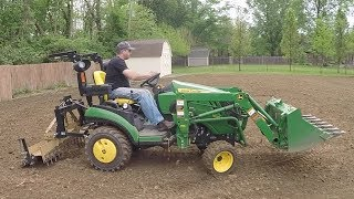 Download Goal!!! Leveling the Playing Field! Compact Tractor, Tiller, and Soil Pulverizer Video