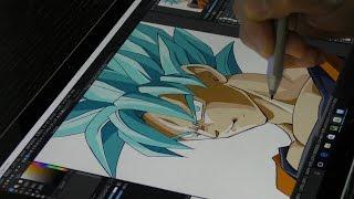 Download Surface pro4とMediBang Paint(メディバンペイント )でスーパーサイヤ人ブルーを描いてみた/Drawing Super Saiyan Blue by Surface Video