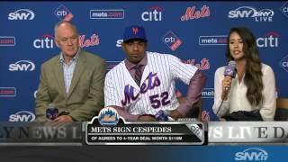 Download Yoenis Cespedes and Sandy Alderson discuss new Mets contract Video