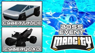Download 🔴 MAD CITY NEW STARFISH BOSS FIGHT EVENT | Tesla Cyber Truck & Cyber Quad | Roblox Mad City LIVE Video