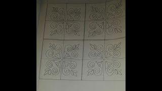Download Nakshi Kantha Design tutorial step by step fo Beginners-39/নকশীকাঁথা নকশা/ Video