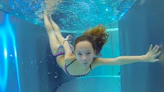 Download Carla Underwater - swimming underwater, jumping and water slides Video
