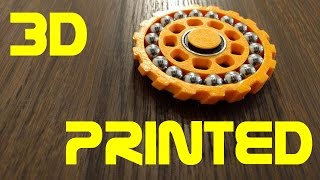 Download Double Bearing Fidget Spinner - 3D Printed Video