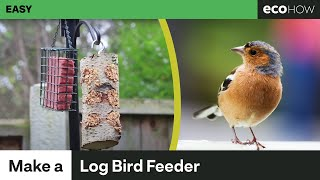 Download Eco How - How to make a log bird feeder Video