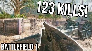 Download BATTLEFIELD 1 123 KILLS RECORD for Argonne Forest! [STREAM QUALITY] BF1 Shotgun Gameplay Video