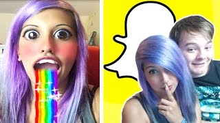 Download MORE Snapchat Lenses (iPhone Footage) Video