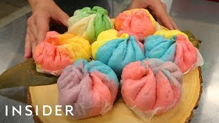 Download Unicorn Buns Are Classic Steamed Buns With Rainbow Twist Video
