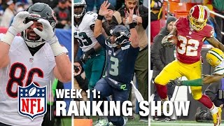 Download Week 11 Rankings Show | Top 10 Plays, Top 3 Celebrations & More! | NFL Video