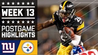 Download Giants vs. Steelers | NFL Week 13 Game Highlights Video